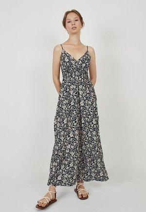 Maxi dress - azul marino  beige
