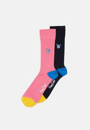 EMBROIDERY DOG 2 PACK - Socks - medium pink