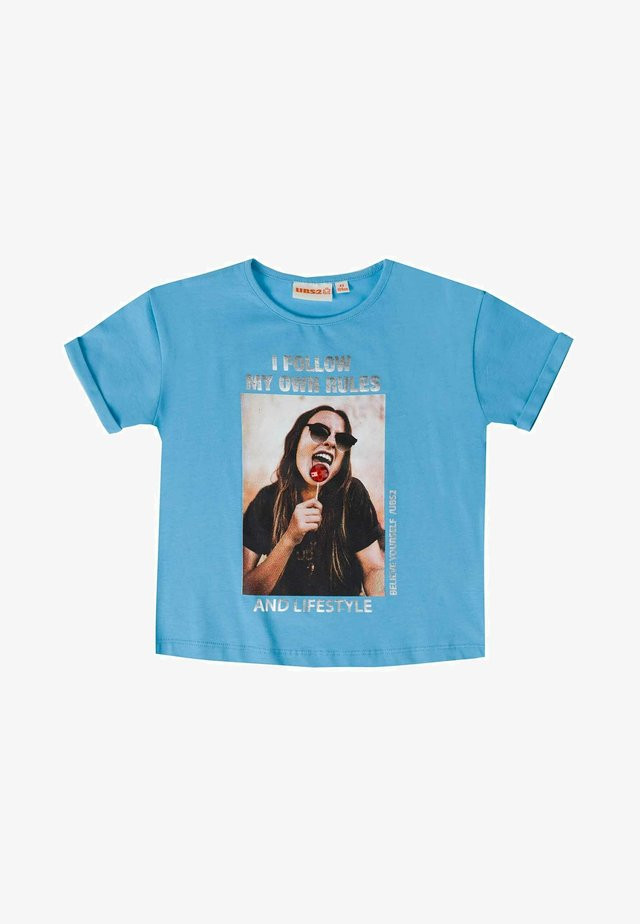 T-shirt print - turquesa
