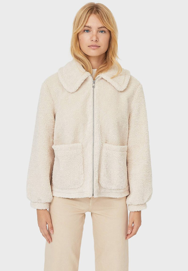 Stradivarius - Fleece jacket - white