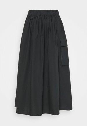 MILLER - Áčková sukně - black