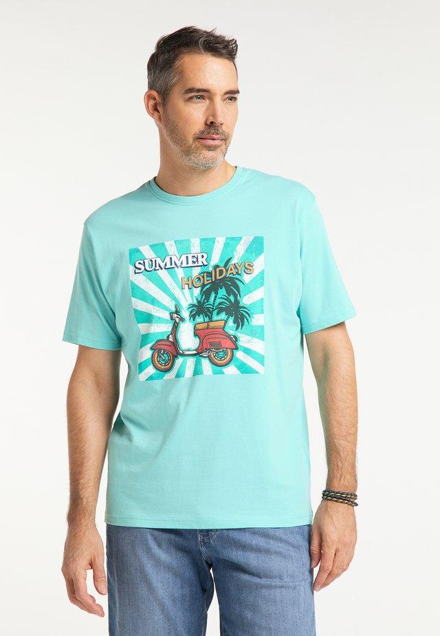 T-shirt imprimé - aquamarine