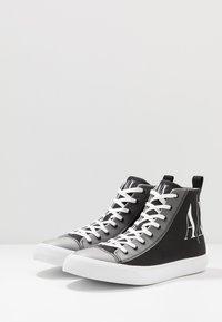 Armani Exchange - Sneakersy wysokie - black icon - 2