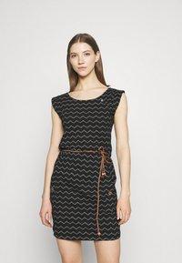 Ragwear - TAG CHEVRON - Žerzejové šaty - black - 0