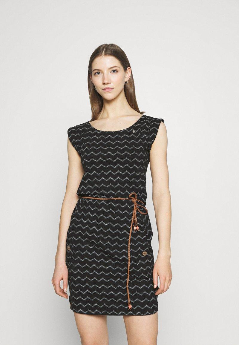 Ragwear - TAG CHEVRON - Žerzejové šaty - black