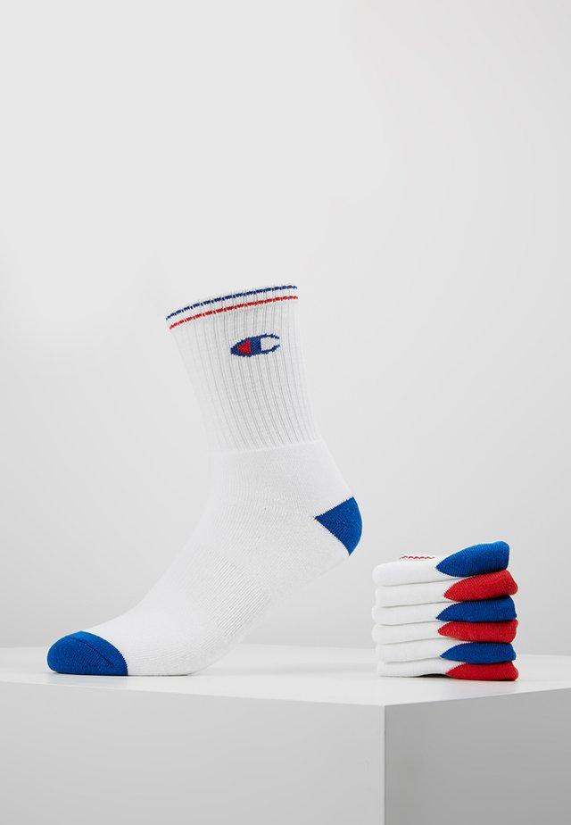 6 PACK CREW PERFORMANCE - Socks - white/blue/red