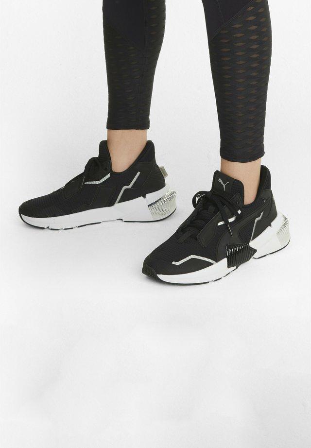 Sneaker low - black- silver