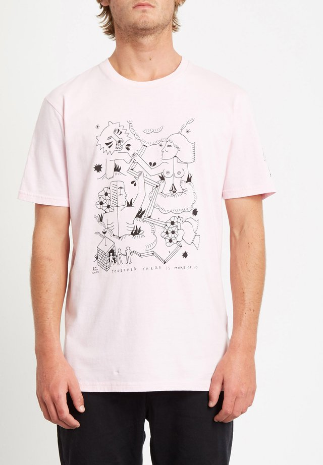 BRIAND  - T-shirt con stampa - snow_pink