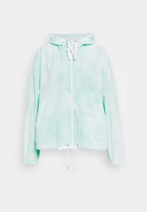 HOODED ZIP FRONT WINDBREAKER - Lett jakke - mint