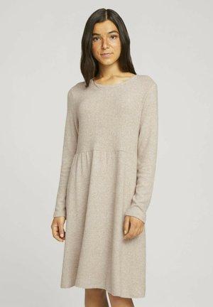 COZY MINIDRESS - Jumper dress - creme beige melange