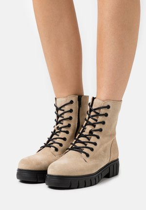 VMEA BOOT - Lace-up ankle boots - beige