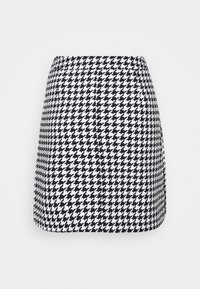 NA-KD - HOUNDSTOOTH SKIRT - A-line skirt - black/white - 1