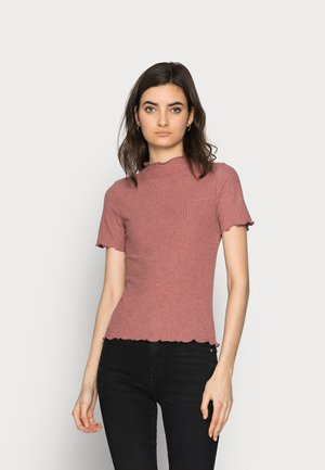 ONLEMMA HIGHNECK TOP  - Print T-shirt - apple butter