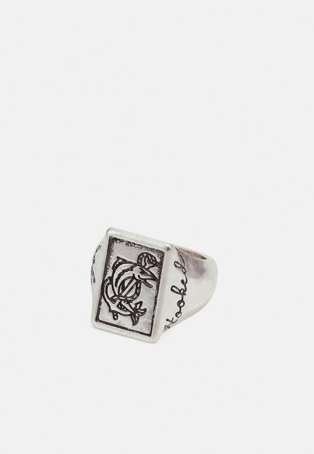 HOOKED RECTANGULAR - Anello - silver-coloured