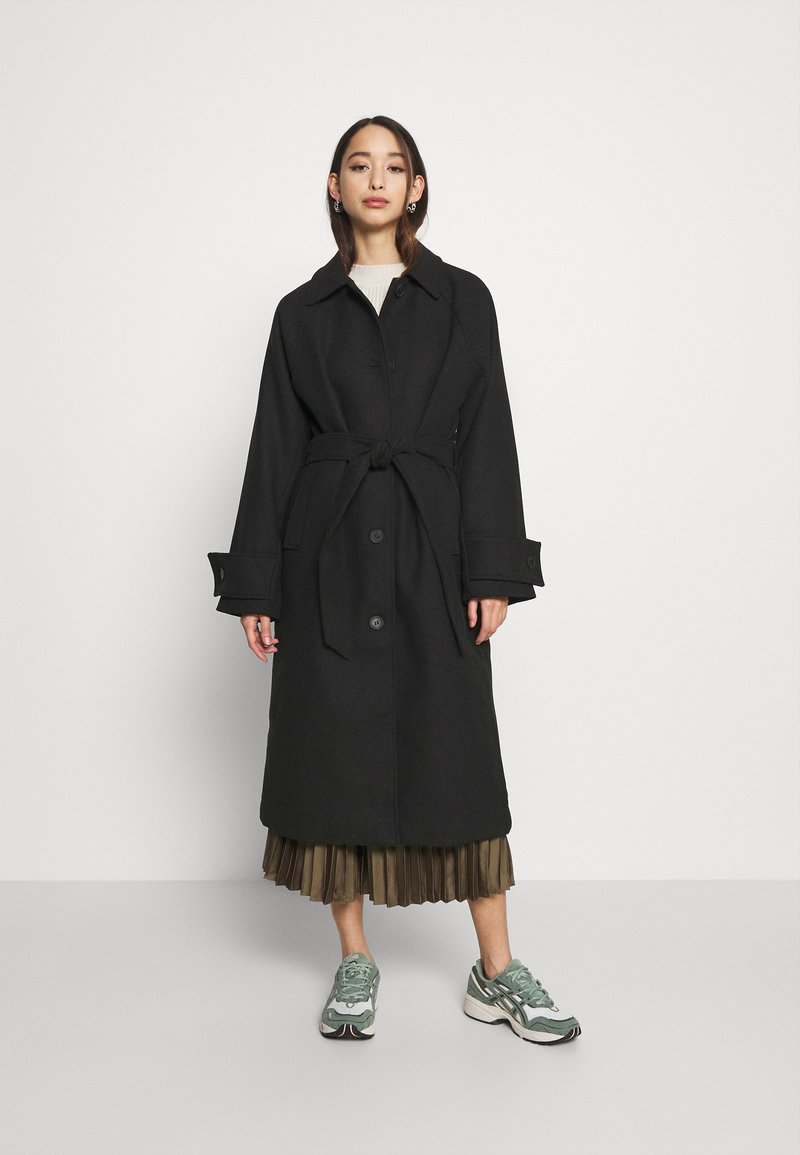 Monki - ARELIA COAT - Classic coat - black