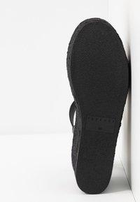 Topshop - DOVE WEDGE - Platform sandals - black - 4