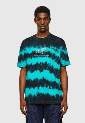 Print T-shirt - blue/black