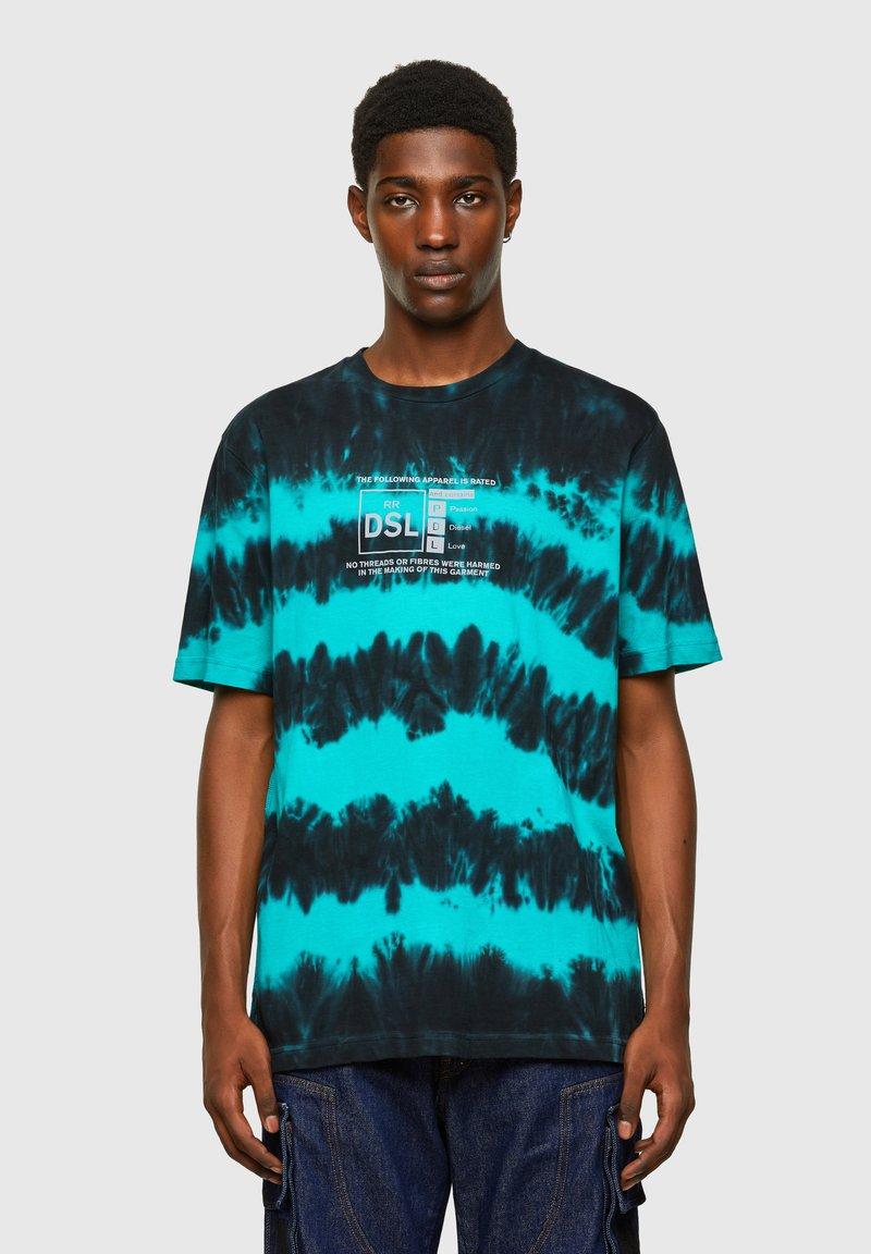 Diesel - Print T-shirt - blue/black
