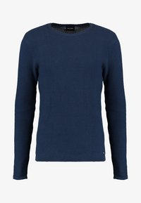 Only & Sons - ONSDAN STRUCTURE CREW NECK  - Stickad tröja - dress blues - 5