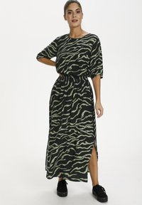Kaffe - Maxi skirt - black  hedge zebra print - 1