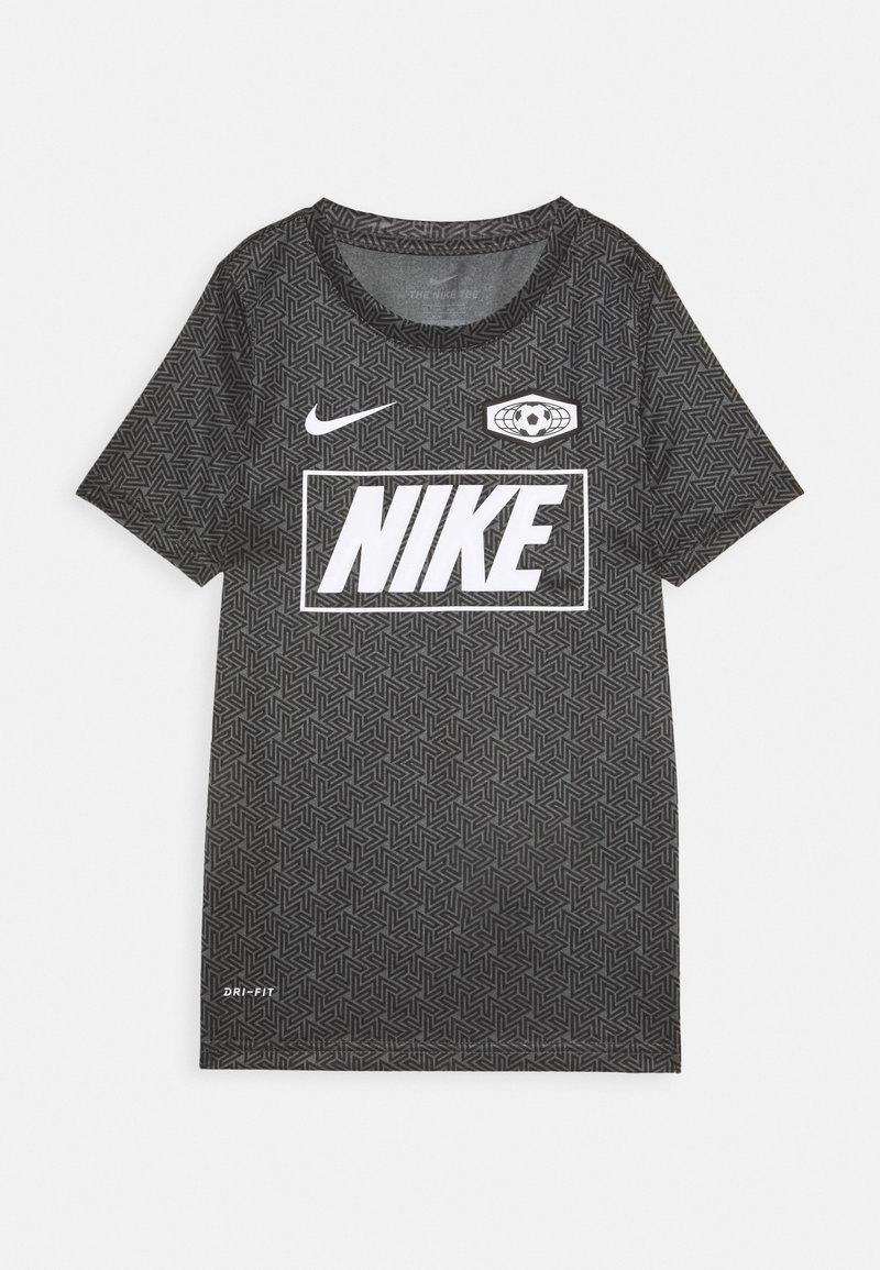 Nike Performance - DRY TEE SOCCER - Print T-shirt - iron grey/black