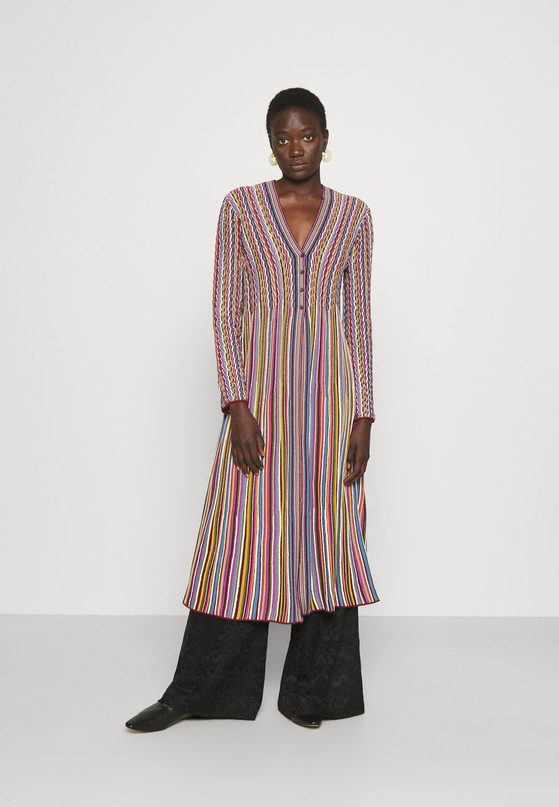 M Missoni - MAXI CARDIGAN DRESS COMBO - Neuletakki - multicolor