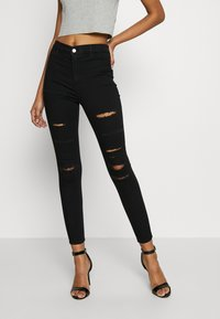 Topshop - SUPER JONI - Jeans Skinny Fit - black - 0