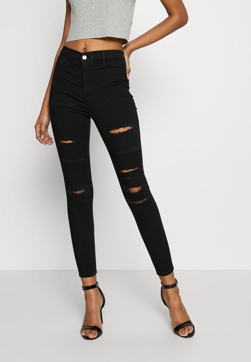 Topshop - SUPER JONI - Jeans Skinny Fit - black