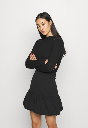 SHOULDER DETAIL TOP - Long sleeved top - black