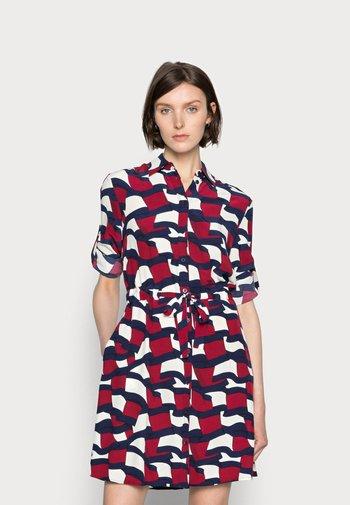 SHIRT DRESS - Košilové šaty - blue