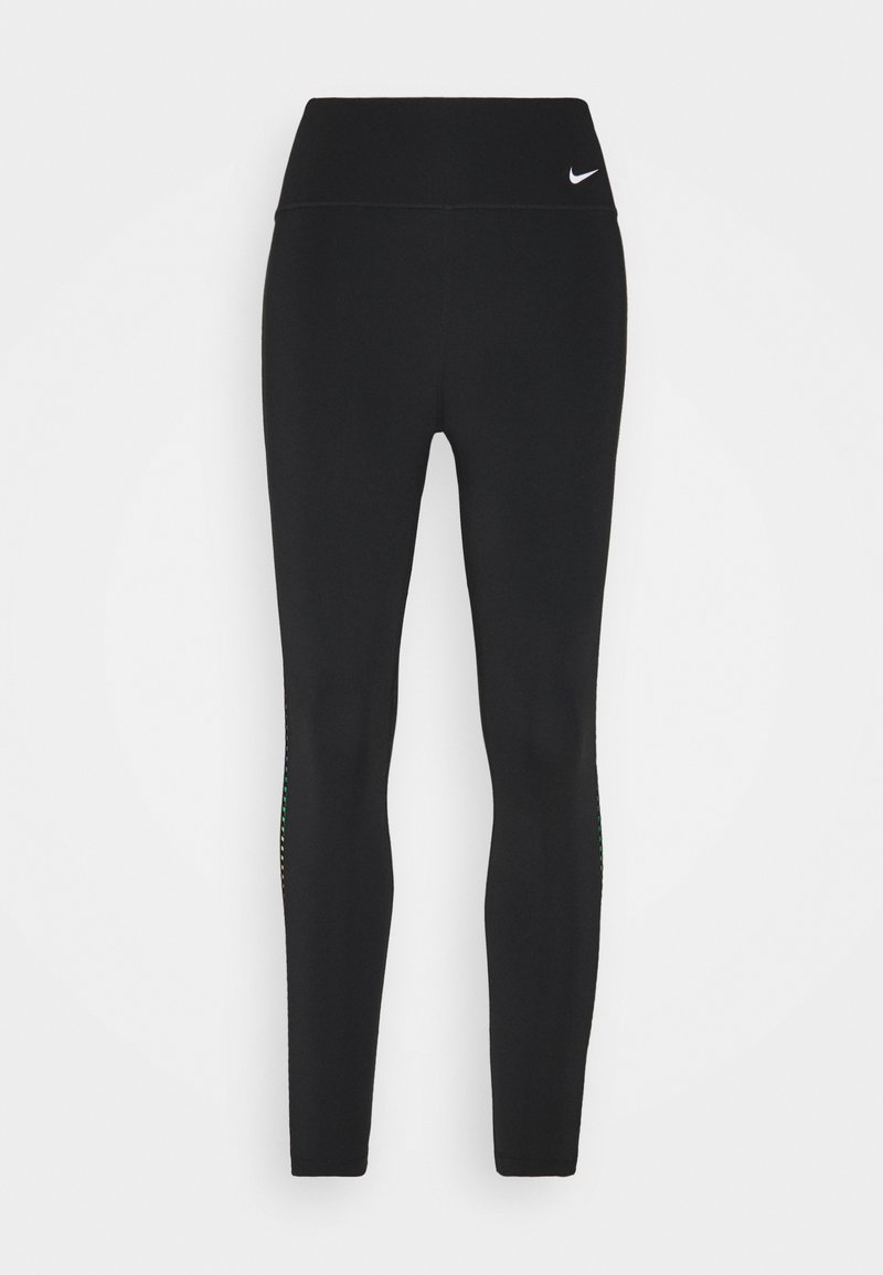 Nike Performance - ONE RAINBOW 7/8 - Leggings - black/white