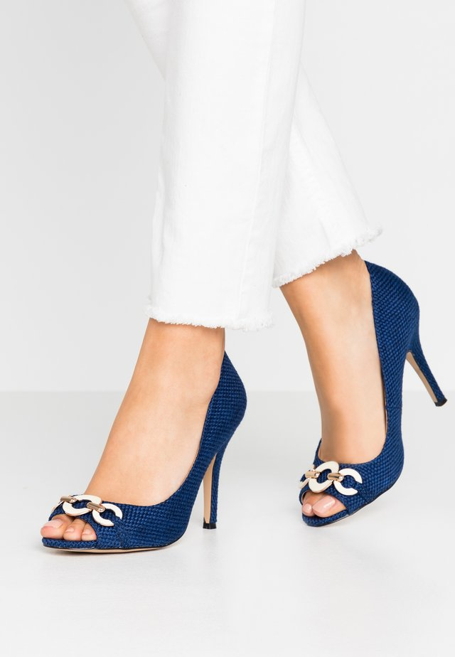 CHURCH - Peeptoe heels - bright blue
