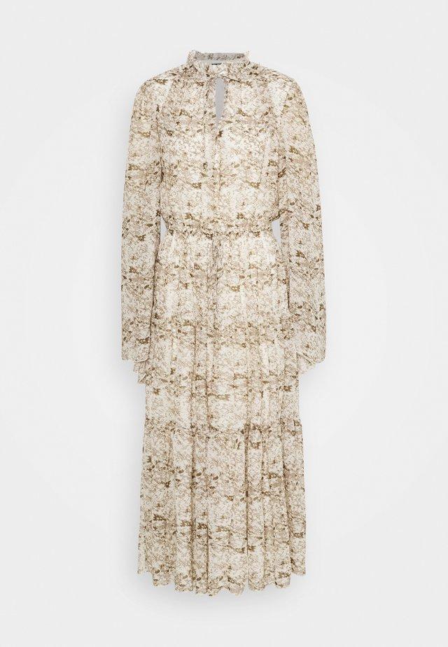 KEYHOLE FRILL DRESS - Day dress - grey