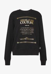 Versace Jeans Couture - CREW LABEL LOGO - Mikina - black - 3
