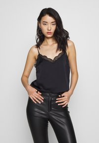 Abercrombie & Fitch - LINGERIE CAMI UPDAT - Top - black - 0