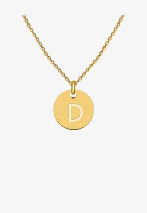 BUCHSTABE D - Collana - gold