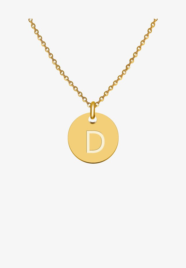 BUCHSTABE D - Collier - gold