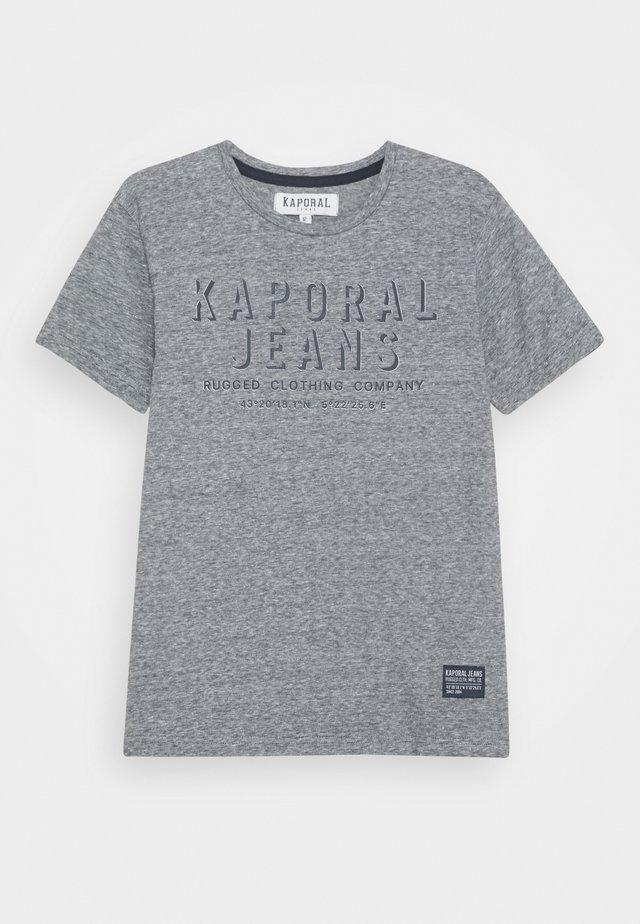 OREL - Print T-shirt - navy melange