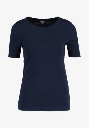CREWNECK ELBOW SLEEVE - Basic T-shirt - navy