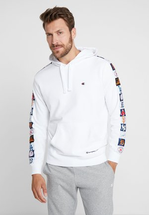 MLB MULTITEAM HOODED - Mikina s kapucí - white