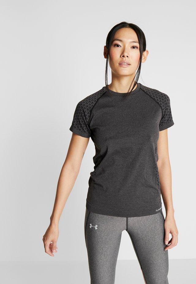 CI SEAMLESS - T-shirt con stampa - dark grey melange