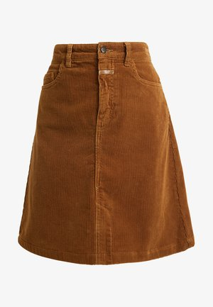 LOGAN - A-line skirt - tobacco