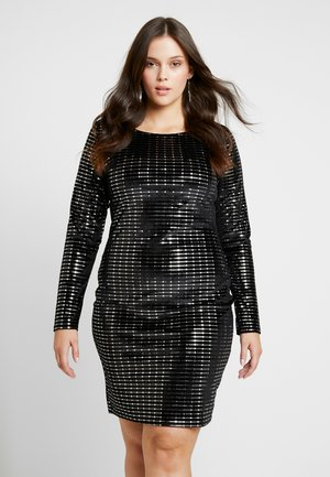 LONG SLEEVED BODYCON DRESS - Vestito estivo - black