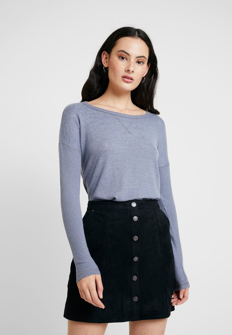 Abercrombie & Fitch - LONG SLEEVE COZY - Jumper - blue