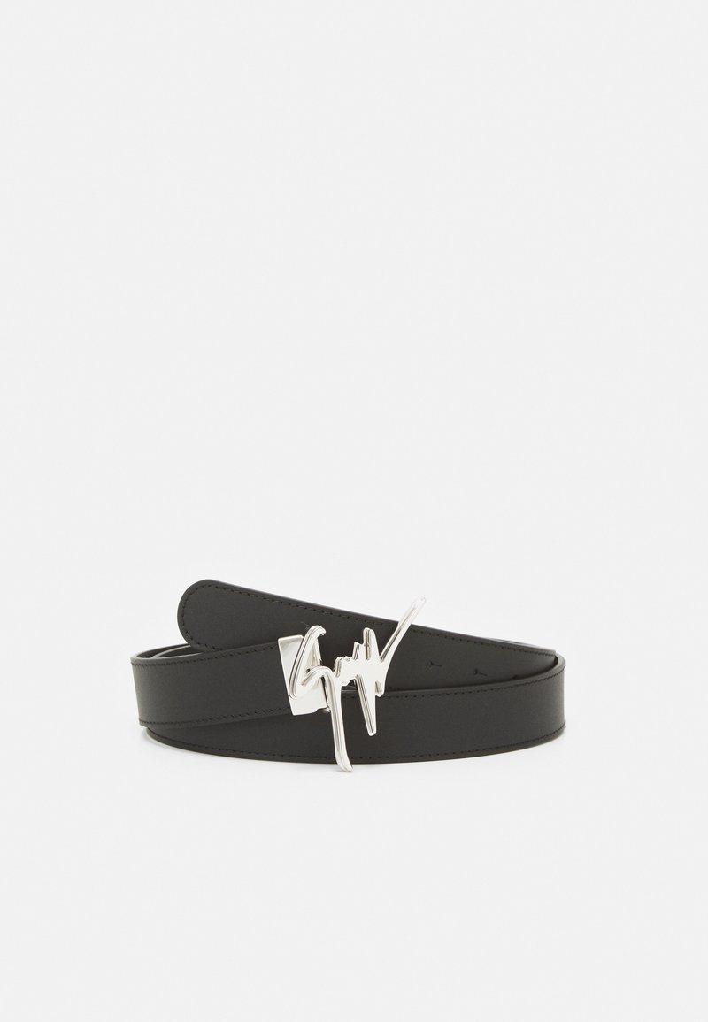 Giuseppe Zanotti - UNISEX - Belt - black/silver-coloured