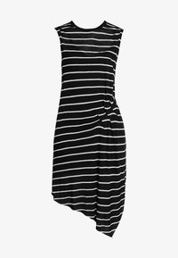 AllSaints - DUMA STRIPE DRESS - Denní šaty - black/chalk white - 4