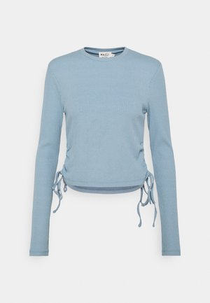 DRAWSTRING DETAIL - Long sleeved top - blue
