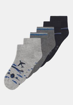 QUARTERS 6 PACK - Socks - fog melange