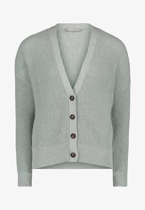 Cardigan - grey green melange