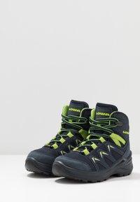 Lowa - INNOX PRO GTX MID JUNIOR UNISEX - Hiking shoes - stahlblau/limone - 3